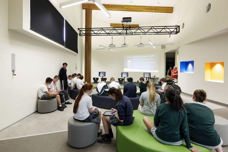 el diseño de aulas modernas